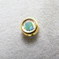 ゴールドフィルド・チャーム/天然石ミスティックトパーズ<11月誕生石>(レインボー)(ブラジル)(ラウンド4mm)ベゼル「14kgf」(1個)