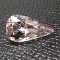 モルガナイト 非加熱 ピンクベリル  天然石ルース(ブラジル産)ペアシェイプカット【17.58×9.46×7.01mm】(1個)