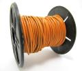 本革レザーコード・丸革紐/オレンジ/1mm×10メートル×1本