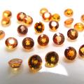 天然石ルース(裸石)・オレンジサファイア(スリランカ産/トリートメント・コート)/ラウンド【4mm】ファセットカット(2個)