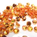 天然石ルース(裸石)・オレンジサファイア(加熱処理)(アフリカ)/ラウンド【3mm】ダイヤモンドカット(3個)