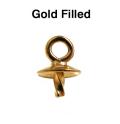 ゴールドフィルド・ペンダントトップ突き刺し3mm(芯立・皿付)「14kgf」(5個)