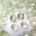 天然石ルース(裸石)プレナイト/ラウンド【3mm】ファセットカット(8個)