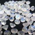 天然石ルース(裸石)・レインボームーンストーン/ファセットカット(ラウンド)【6mm】(2個)