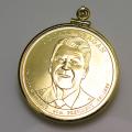 大統領1ドル貨(第40代・ロナルド・レーガン)・コインペンダント・バチカン付「14kgf・ゴールドフィルド」(1個)