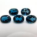 天然石ルース(裸石)・ブルートパーズ(ロンドンブルー)/オーバル【7×5mm】ファセットカット(1個)