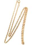 14kgfネックレス「ゴールドフィルド」40cm【ロープ・幅1.6mm】 1本