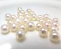 淡水パール真珠(ホワイト系)/穴無パール(ラウンド〜セミラウンド5mm)(4個)
