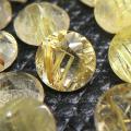 ゴールデンルチルクオーツ ルース 天然石 ラウンド ファセットカット 4mm (6個)