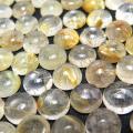 天然石ルース(裸石)・ルチルクォーツ/カボション(ラウンド)【6mm】(8個)