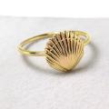 モチーフリング(14kgf指輪)(シェル9mm)(サイズ目安:7号)「ゴールドフィルド」(1個)