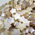 シェルビーズ 貝 スター星(ホワイト系)(12mm)(1本)
