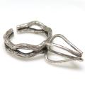 指輪 リング 銀古美 空枠 ラフストーン・タンブル~カボション 4本爪 39mm 真鍮ブラス・真鍮ブラス・アンティークカラー(1個)