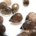 スモーキークオーツ ビーズ ブリオレット 天然石ルース 【ティアドロップカット 5×3mm 横穴 しずく】
