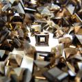 天然石ルース(裸石) スモーキークオーツ/スクエア【4mm】ファセットカット(15個)