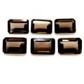 スモーキークオーツ 天然石ルース レクタングルカット オクタゴン 【6×4mm】ファセットカット(6個)