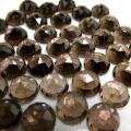 天然石ルース(裸石)スモーキークオーツ/ローズカット(ラウンド)【4mm】(10個)