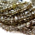 スモーキークオーツ 天然石ビーズ ラウンデル・ボタンカット 3~4mm 約32センチ 1連