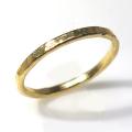 スタッキングリング ハンマード 指輪 真鍮ブラス・ゴールドカラー(3個)
