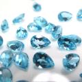 天然石ルース(裸石)・ブルートパーズ(スイスブルー)/ペア【6×4mm】ファセットカット(3個)