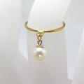 14kgf淡水パール真珠チャームリング指輪(ラウンド5mm)(サイズ目安:7号)「14kgf(ゴールドフィルド)」(1個)