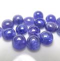 天然石ルース(裸石)・タンザナイト(タンザニア・加熱処理)/カボション(ラウンド)【5mm】(2個)