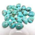天然石ルース(裸石)・ターコイズ(アリゾナ産)/カボション(ペア)【14×10mm】(1個)