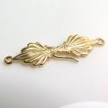 アクセサリーフック留具 ネックレス金具(C)(真鍮ブラス・ゴールドカラー)(2個)
