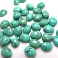 天然石ルース(裸石)・ハウライト(マグネサイト) ターコイズ/カボション(オーバル)【8×6mm】(4個)