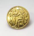 コイン ペンダント チャーム(古代エジプト風/アンティーク/ビンテージ調)(17mm)【VC-14】(真鍮ブラスカラー)(25個)
