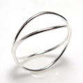ウェーブリング シルバー指輪 SV925(サイズ目安:8号)1個