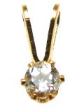 スタッドペンダントトップ「14kgf(ゴールドフィルド)」天然石ホワイトトパーズ<11月誕生石>3mm/6本爪(1個)