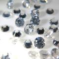 天然石ルース(裸石)ホワイトジルコン(タンザニア産・加熱)ラウンド【3mm】ダイヤモンドカット(2個)