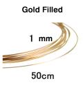 14kgfワイヤー「ラウンド・ワイヤー」(ハーフハード)【1.02mm×50センチ】「ゴールドフィルド」(1本)