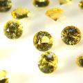 天然石ルース(裸石)・カナリアイエローサファイア(セイロン・スリランカ産/加熱処理)/ラウンド【3.2mm】ダイヤモンドカット(1個)