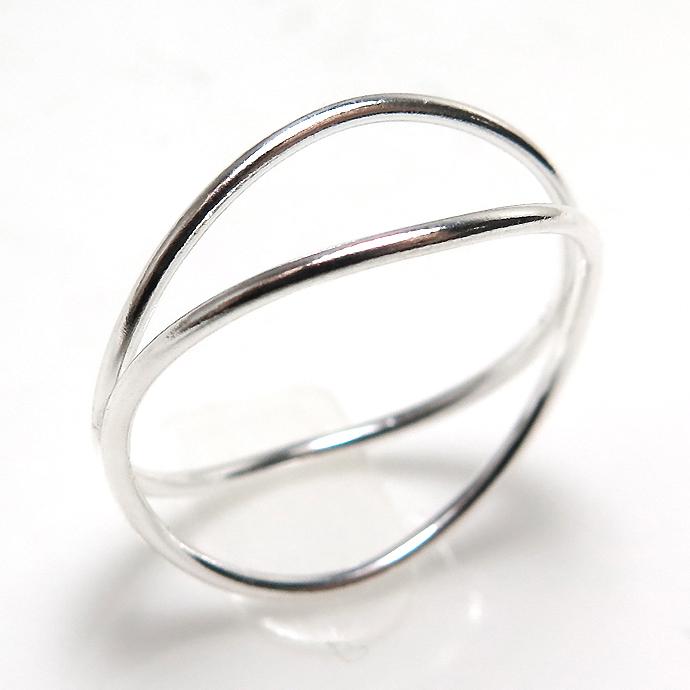 ウェーブリング シルバー指輪 SV925(サイズ目安:13号)1個