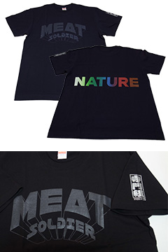 ミートソルジャーTシャツ 映画初監督記念「寺門組」バージョン:ネイビー