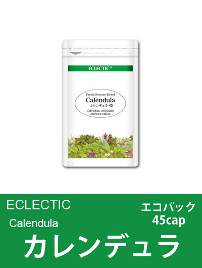 【メール便可】エクレクティック(ECLECTIC) カレンデュラ(ポットマリーゴールド)Ecoパック45cap【オーガニック・ハーブ・カプセル】
