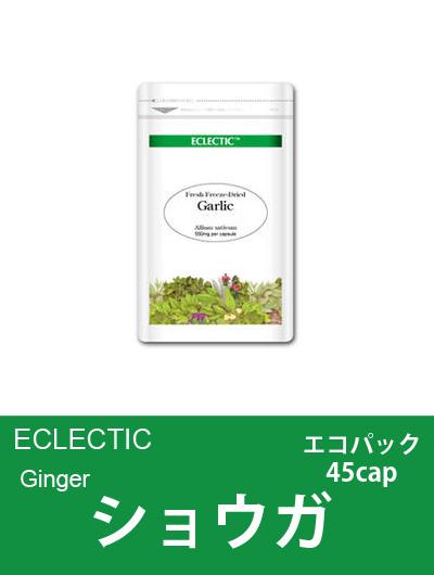 【メール便可】エクレクティック(ECLECTIC) ショウガ Ecoパック45cap【オーガニック・ハーブサプリ・カプセル・冷え・ムカムカに】