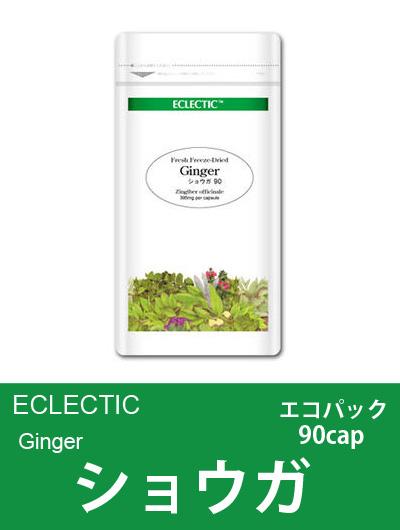 【メール便可】エクレクティック(ECLECTIC) ショウガ Ecoパック90cap 【オーガニック・ハーブサプリ・カプセル・冷え・ムカムカに】