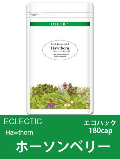 エクレクティック(ECLECTIC) ホーソンベリー(セイヨウサンザシ)Ecoパック180cap 【オーガニック】