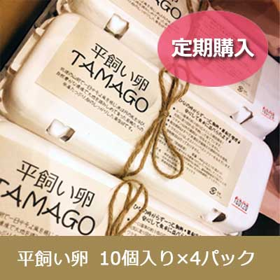 【定期】ナチュライ・サイクラ(Natulrigtcykla)平飼い卵 パック入り10個×4パックセット(40個)【たまご、ぱっく】