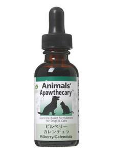 アニマルズアパスキャリー (Animals' apawthecary) ビルベリー・カレンデュラ 29.5ml 【ペット用ハーブサプリメント・目のケアに】