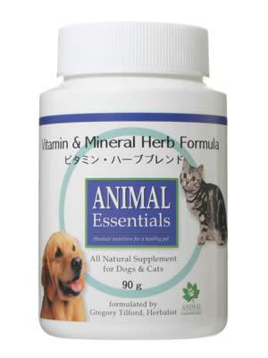 アニマル エッセンシャルズ (Animal Essentials) ビタミン・ハーブブレンド 90g 【ペット用ハーブサプリ・猫犬のご飯に・まぜるだけ】