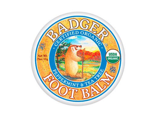 バジャー(BADGER) フットバーム【アロマバーム・天然成分・体に塗る・足用・かかと・ひざ・角質ケア】
