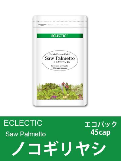 【メール便可】エクレクティック(ECLECTIC) ノコギリヤシ(ソウパルメット) Ecoパック 45cap【オーガニック・ハーブサプリ・カプセル】