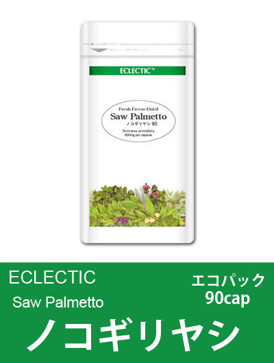 【メール便可】エクレクティック(ECLECTIC) ノコギリヤシ(ソウパルメット) Ecoパック90cap【オーガニック・ハーブサプリ・カプセル】
