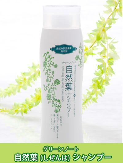 【NEW】グリーンノート(GREENNOTE) 自然葉シャンプー【リンスなし・ダメージ・補修・天然アミノ酸・ヘナ・頭皮ケア】