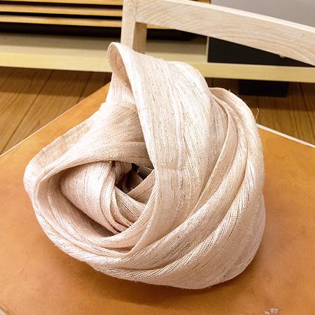 手織り葛布のスカーフ/大井川葛布