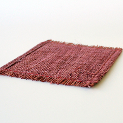 手織り葛布のコースター